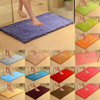 Absorbent Soft Shaggy Non Slip Bath Mat Bathroom Shower Home Floor Rugs Carpets