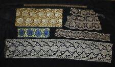 Antique French Lace Trim - Art Deco Floral Net - Design Sewing Fashion