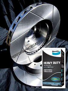SLOTTED VMAX fits VOLKSWAGEN AMAROK Front Disc Brake Rotors AND BENDIX HD PADS