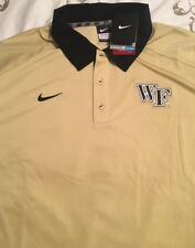 Wake Forest Nike XXL 2XL Yellow Hold Black Golf Polo Shirt New NWT Demon Deacons