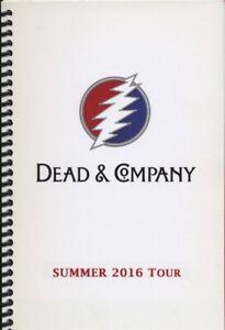 DEAD & COMPANY - TOUR - ITINERARY - 2016