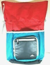 High Sierra Hiking Traveling Backpack Teal/Red/Black/White Color