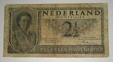 Netherlands Niederlande 2 1/2 Gulden 1949 P- 73