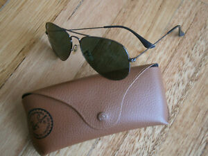 RAY BAN RB 3025 AVIATOR LARGE METAL UNISEX SUNGLASSES.MADE IN ITALY.