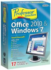 NEW Professor Teaches Office 2010 & Windows 7 ,Word ,Excel ,PowerPoint ,Outlook