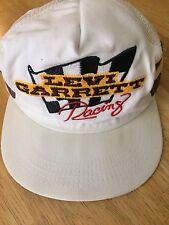 Levi Garrett  Racing Hat Vintage Snapback Truckers Cap Nascar RARE WHITE