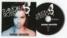 Ramona Rotstich - cd-PROMO - LEMMINGE unerreichbar © 2012 - German-2-Track - POP