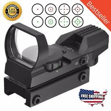 Red Dot Sight Reflex Green Holographic Scope Tactical Rifle Mount 20mm Rails BLK