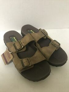 WOMEN SANDALS, SKECHERS, BROWN LEATHER, SIZE 9M