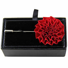 chest brooch buckle red wedding prom New formal Men's flower lapel pin