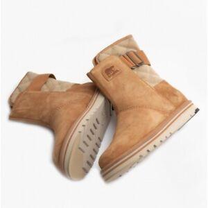 Sorel NEWBIE Ladies High-Quality Suede Water Resistant Boots Elk/British Tan