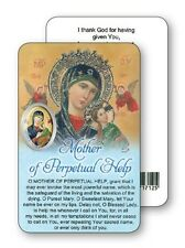 MOTHER / LADY OF PERPETUAL HELP PRAYER LAMINATED CARD WITH RESIN DROP PICTURE