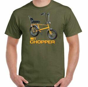 Chopper T-Shirt Raleigh Mk 1 Bicycle Cyclist Bike Cycle Mens Retro 70s 80s Top