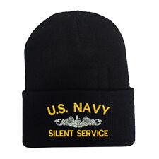 CUFF FOLD UP LONG BEANIE WINTER HATS U.S. NAVY SILENT SERVICE BATTLESHIP