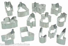 Kitchen Craft Set Of 13 Christmas Small Fondant Icing Cake Decorating Cutters