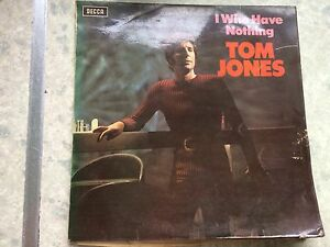 "Tom jones, I who have nothing, 12""vinyl record Lp"