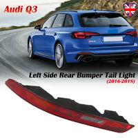 Left Side Rear Lower Bumper Reverse Stop Tail Light Lamp For Audi Q3 2016-2018