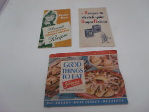 WWII Era 4 Recipe Pamphlets PETER PAN Peanut Butter DOLE Pineapple, ARM & HAMMER