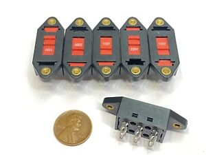 6 Pieces Voltage Selector Slide Switch AC 110V to 220V 6 Terminals DPDT 6pin E21