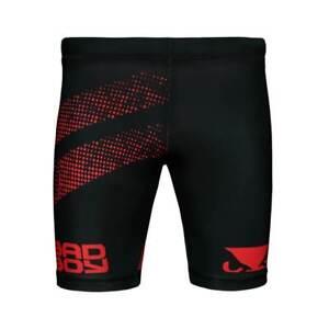 Bad Boy MMA Long Vale Tudo Fight Shorts Black Compression BJJ Jiu Jitsu