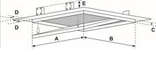 FF Systembau Revisionsklappe 60 x 60 x 1,25 cm mit festen Scharnieren + Lochung