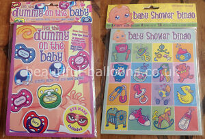 Baby Shower Games - Baby Shower Bingo & Pin the Dummy on the Baby!