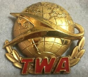 TRANS WORLD AIRLINES PILOT HAT BADGE 2ND ISSUE