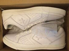 Converse Cons 145662C Gates Ox Men's White Silver Leather New Men's Sz 11.5