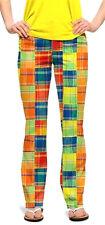 Loudmouth Golf Pants Ladies sz 00 Grass Multi Patchwork Plaid NEW John Daly WILD