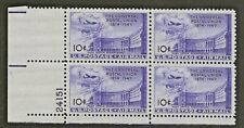 US Airmail C42 Plate Block of 4 MNH/OG NICE 10 Cent P.O. Building