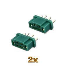 2x Stück MPX Stecker Buchsen Female Hochstromstecker Multiplex Style 6 Polig M6