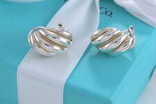 Tiffany & Co Silver & 18Kt Gold Shell Shrimp Swirl Clip On Earrings RARE