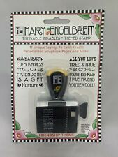 Mary Engelbreit Friendship Themed Stamp Thinkable Inkables /W 12 Unique Sayings