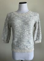 Boden Sweater Ivory Silver Metallic Size US 6