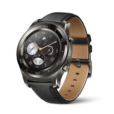 New Huawei Watch 2 Classic Titanium Grey, Black Hybrid Strap-Android (Sealed)