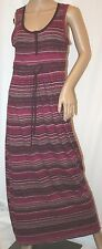 EDDIE BAUER HENLEY DRESS EMPIRE SCOOP NECK LONG MAXI STRIPED COTTON TUNIC S
