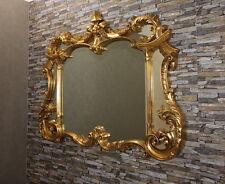 Klassikspiegel Wandspiegel SPIEGEL Antikgold Gold 129x100 cm Truhespiegel Rokoko