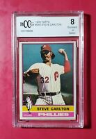STEVE CARLTON - 1976 Topps #355 (Phillies) **BCCG 8 GRADED** **SWEET & SHARP**