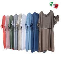 Italian Lagenlook Silk Summer Dress Tunic Plus Size 18-28