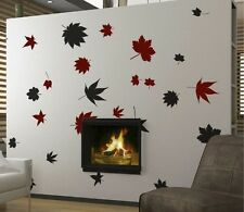 Vinyl Wall Decal Sticker Big Autumn Tree Leaves Falling