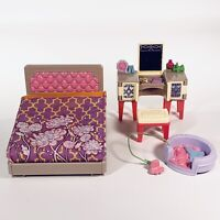 2014 Fisher Price Loving Family Dollhouse Parents' Bedroom Furniture Lot HTF