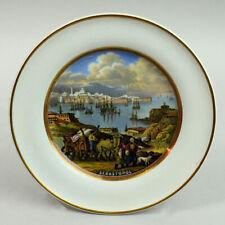 UNUSUAL VICTORIAN PRATTWARE POTTERY PLATE SEBASTOPOL C.1870