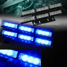 36 LED BLUE CAR TRUCK EMERGENCY HAZARD WARNING FLASH STROBE LIGHT UNIVERSAL 9