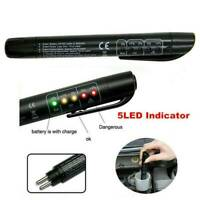Brake Fluid Liquid Oil Tester Pen 5 LED Indicator Car Testing Tool for DOT 3 /4~