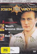 JOHN WAYNE HELL TOWN / 'NEATH ARIZONA SKIES  WESTERN DVD
