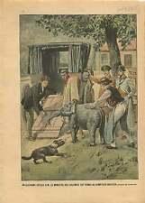 Elephant Ministre des Colonies Gaston Thomson Dompteur Bostock 1905 ILLUSTRATION