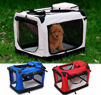 Pet Dog Cat Fabric Soft Portable Crate Kennel Cage Carrier House Bag 3 Colour