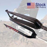 """Carbon/Aluminum Rigid Fork 26/27.5/29"""" Disc Brake 1-1/8"""" MTB Bike Forks 9mm QR"""