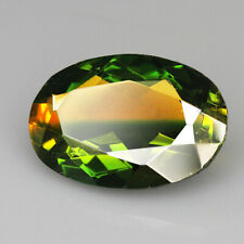 8.85Ct Man Made Bi Color Glass Yellow Green Oval Cut MQYG62