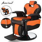 360 Degree Swivel Orange Heavy Duty Hydraulic Recliner Barber Chair Salon Spa